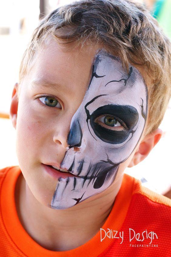 رسم على الوجه للأطفال لحفلات الهالوين Easy Halloween Face Paint Ideas For Kids 201 Maquillaje De Fantasia Infantil Maquillaje De Superheroes Pintura Cara Ninos