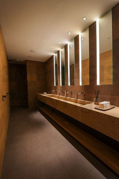 Oblix london interior claudio silvestrin lighting into lighting resturant lighting Public bathroom design architecture