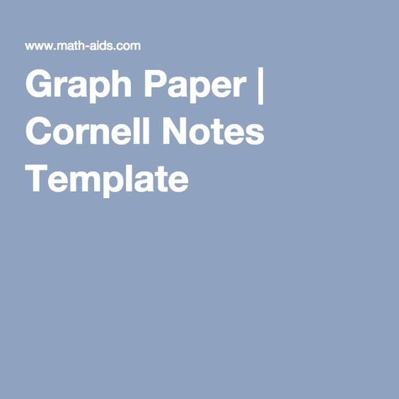 Graph Paper  Cornell Notes Template  Th Grade Ccrs Standards