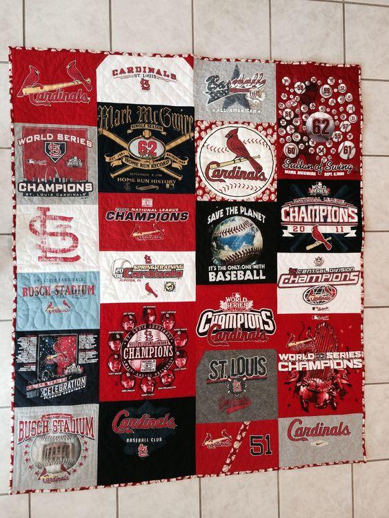 Stephen's St. Louis Cardinals birthday quilt