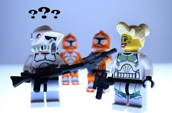 The LEGO Star Wars Troopers are looking surprisingly glamorous beneath those tough helmets!