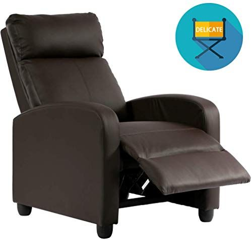 Buy Recliner Chair Pu Single Sofa Modern Reclining Seat Home Theater Seating Living Room Online Home Theater Seating Leather Recliner Chair Single Sofa
