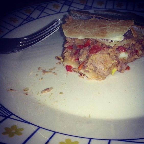 Tarta de atún hecha por mi :p yummy!