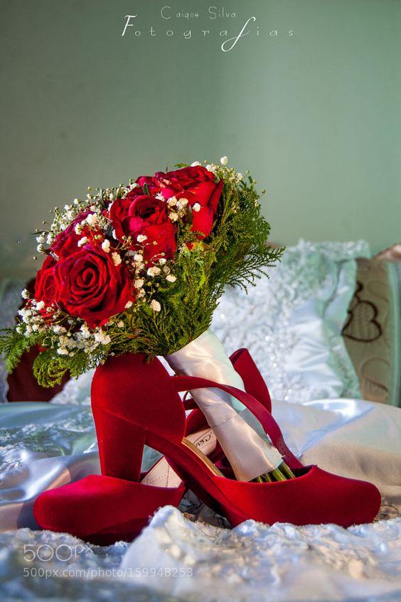 Sapatos da noiva e seu boque by caiquenascimentosilva