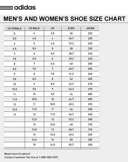 adidas superstar size chart womens