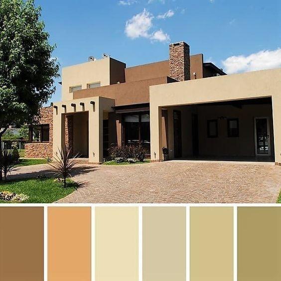 Ideas Para Pintar La Fachada Colores De Moda Pintar Fachadas De Casas Exteriores De Casas Colores Casas Exteriores