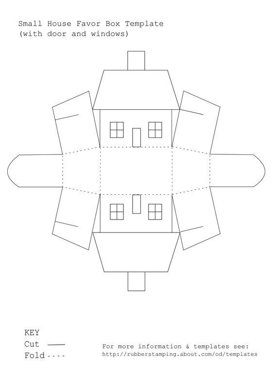 Use this Free Printable Template to Make a Small House Favor Box – Paper Gift Boxes Templates