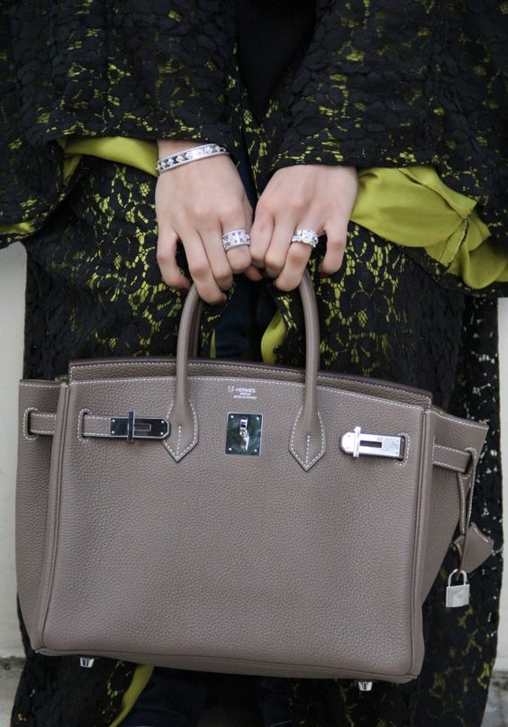 Hermes in the Etoupe color! A perfect color to wear as brown or gray!