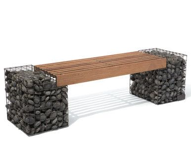Gabion bench read more benches and the o 39 jays for Gabions phoenix