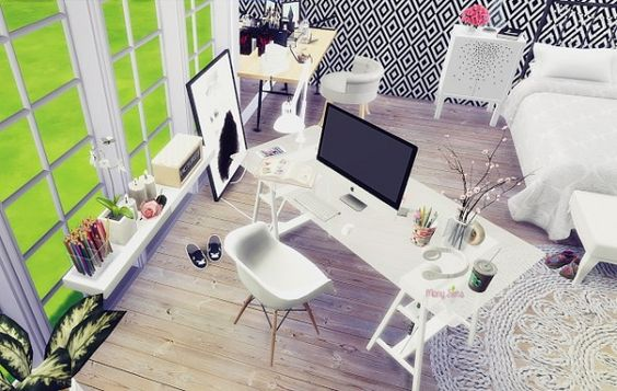 Mony Sims: Girl bedroom • Sims 4 Downloads