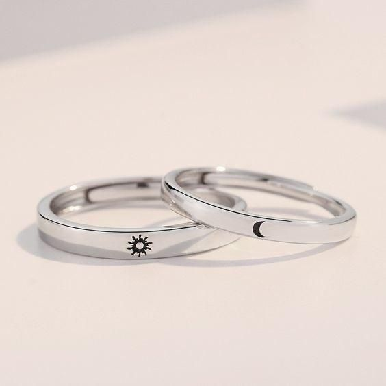 star Hand stamped design ring leaf flower heart aluminum ring butterfly sun moon, adjustable ring smiley face