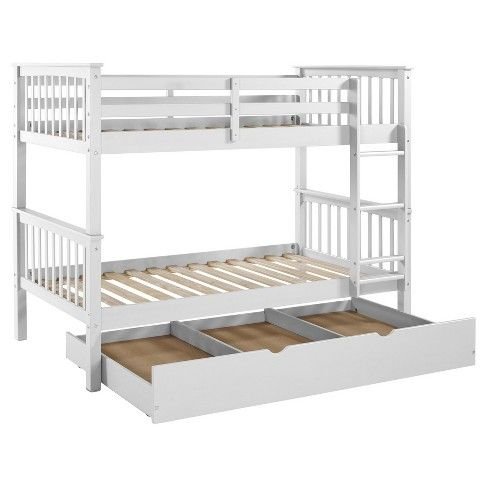 Solid Wood Bunk Bed With Trundle Bed Saracina Home Twin Bunk