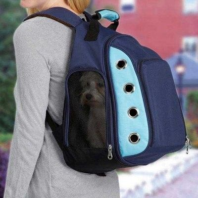 Zanies Casual Canine ZA4512 19 Ultimate Backpack Carrier, Blue - $83.80 This should work for a ferret.