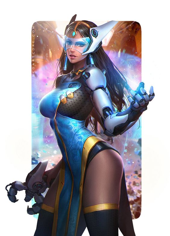 """Symmetra : Overwatch Fanart"" by Nudgawut Thongai (NeoArtCorE) | Blizzard : Symmetra | #SciFi #Videogames"