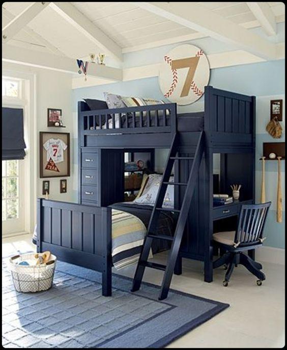 40 cool boys room ideas pinterest boys baseball for Cool bedroom designs for small rooms
