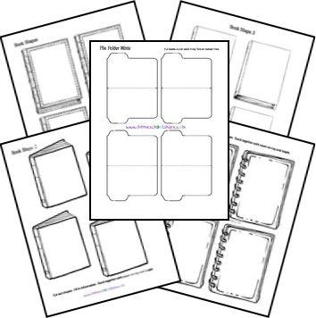 Lapbooks gratis y plantillas de derechos, Plegables, imprimibles, haga su propia lapbook