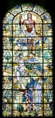 Lambertuskerk Kerkrade        Verrijzenis van Christus  (1960)        (raam bevindt zich in priesterkoor)