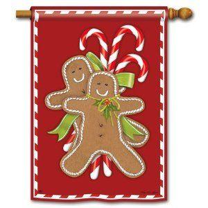 Gingerbread Men House Flag: Holiday Christmas Gingerbread, House Flags, Christmas Decor, Christmas Gingerbreads, Gingerbread Christmas, Christmas Ideas, Gingerbread House Ideas