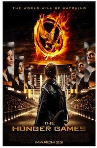 The Hunger Games movie poster with Katniss Everdeen