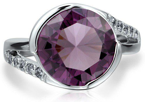 #Berricle                 #ring                     #Sterling #Silver #Flat #Amethyst #Cubic #Zirconia #Solitaire #Ring ##r484    Sterling Silver 925 Flat Amethyst Cubic Zirconia CZ Solitaire Ring #r484                                http://www.seapai.com/product.aspx?PID=1263683