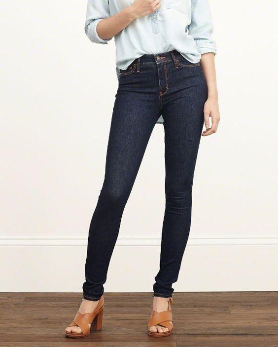 Womens High Rise Super Skinny Jeans