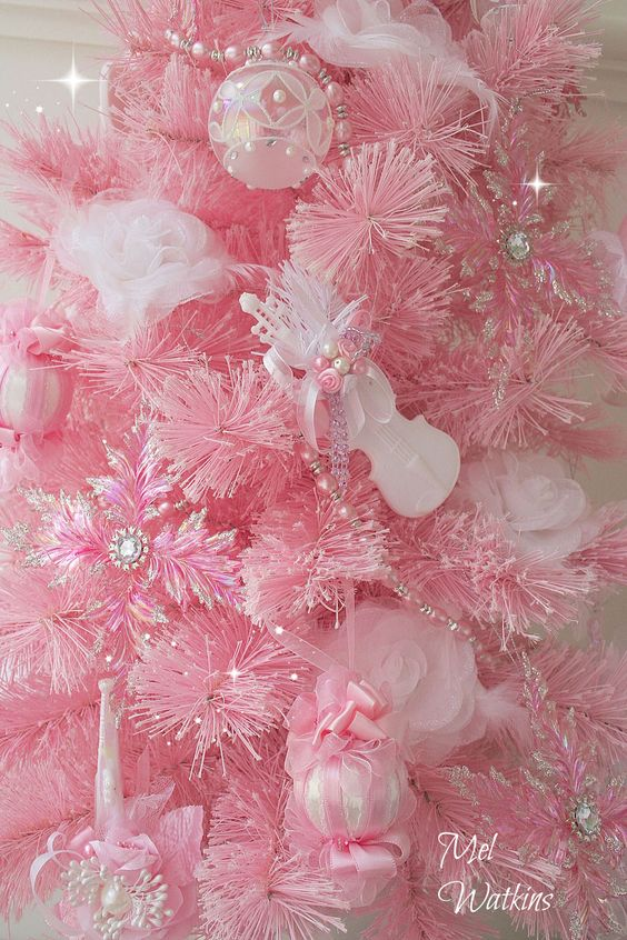 Top 40 Pink Christmas Trees | Pink christmas tree, Pink christmas ...