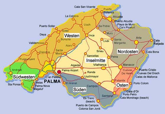 Bildergebnis Fur Osten Mallorca Karte Mallorca Karte Mallorca