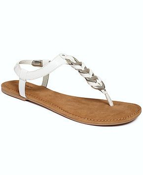 Style Shoes, Jinger Flat Thong Sandals - Shoes - Macy's