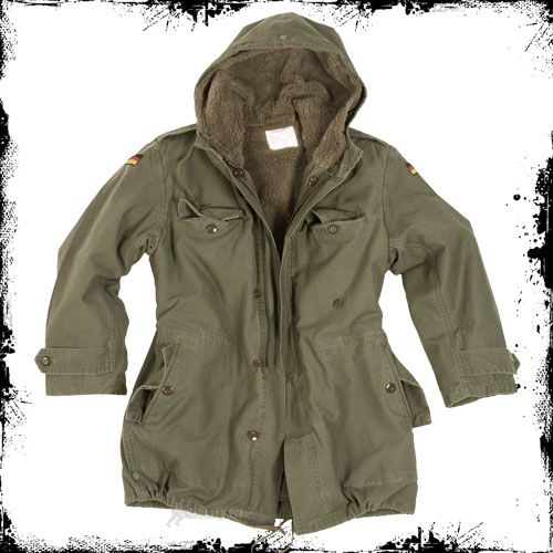 Details about GERMAN ARMY PARKA MILITARY JACKET   LINER OLIVE S ...
