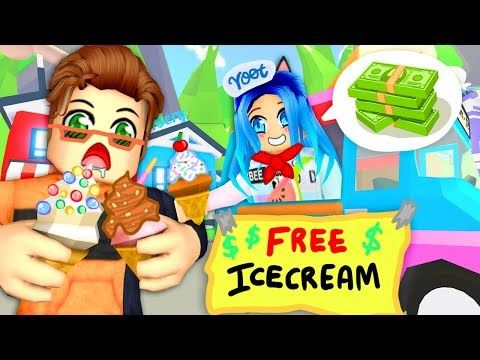 The Best Ice Cream Truck In Roblox Adopt Me Youtube In 2020