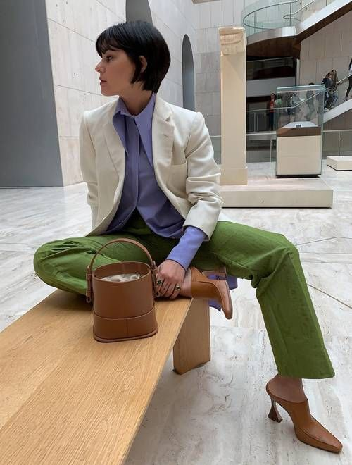 These Green-and-Lilac Outfits Look Unexpectedly Chic | Who What Wear UK