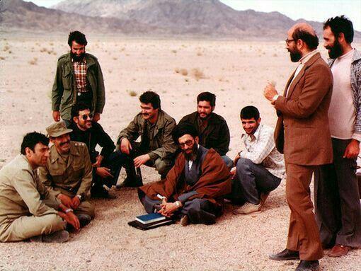 Imam Khamenei and Martyr Mostafa Chamran(Iranian great ...
