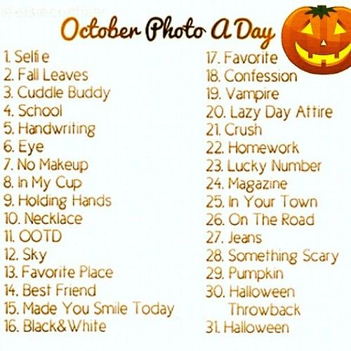october photo challenge  | September Photo a Day Challenge Instagram