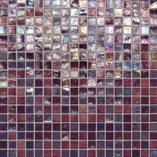 "City Lights 0.5"" x 0.5"" Glass Mosaic Tile in Purple"