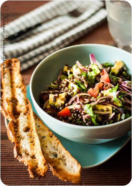 Belugalinsen-Salat mit Avocado - Kleiner Kuriositätenladen