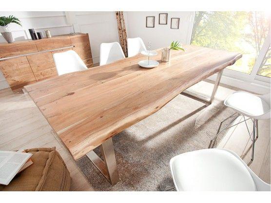 Table A Manger En Bois Massif D Acacia Sylvia 220 Cm Dining