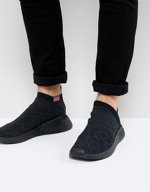 adidas nmd cs2 triple black shock pink