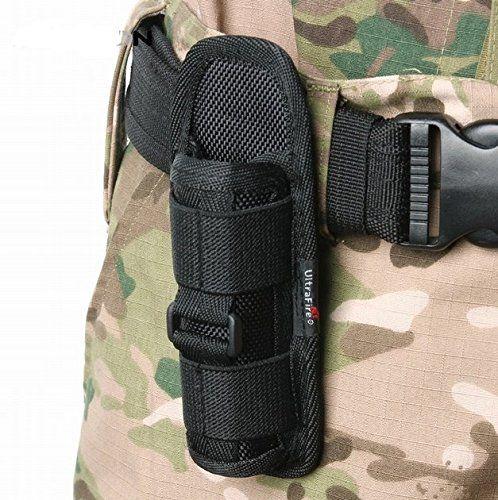 Nylon Holster Holder Belt Pouch Case For Ultrafire Led Flashlight Torch KWUS