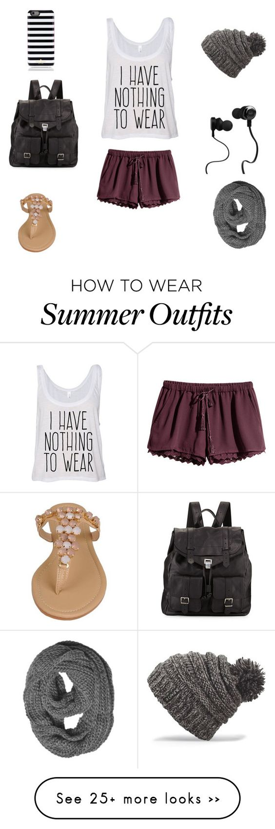 """""""......."""" by naomi2018 on Polyvore featuring H&M, Black Rivet, Proenza Schouler, Kate Spade, Monster and Dakine"""