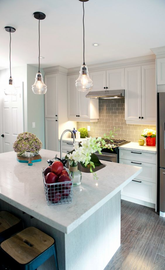Room Transformations From The Property Brothers Grey Subway Tiles Subway Tile Backsplash And Grey