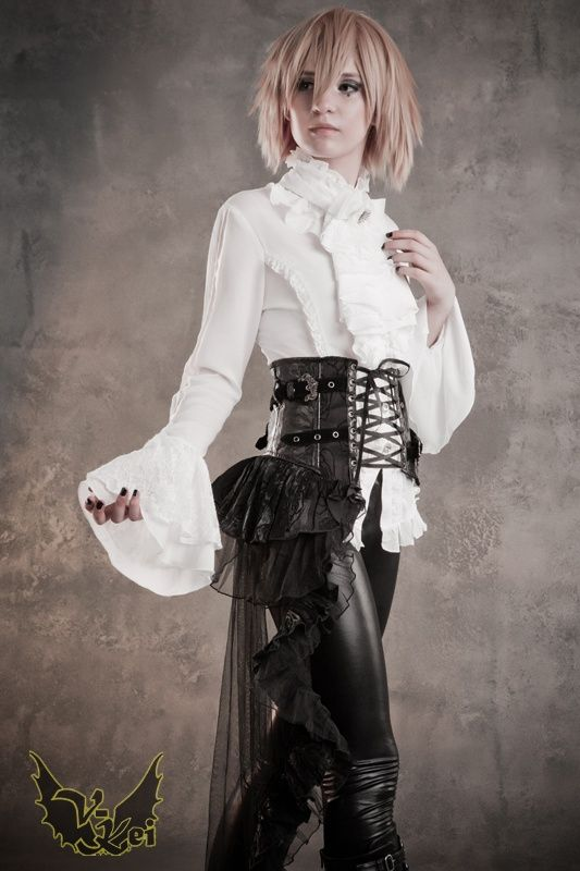 corset with half-skirt over leather pants.   Costuming ...