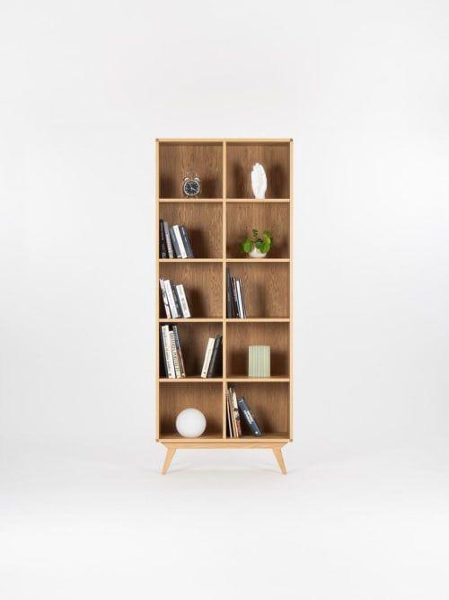 Bookcase Bookshelf Mid Century Modern Scandinavian Shelf Unit Made Of Oak Wood By Mo Woodwork Seen At Stalowa Wola Stalowa Wola In 2020 Scandinavian Shelves Scandinavian Bookshelves Mid Century Modern Bookcase