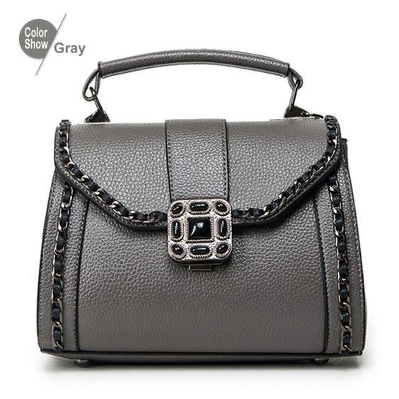 RoyaDong 2016 Women Shoulder Bags Fashion Women's Handbags With Chains Scarf High Quality Artificial Leather Women Bag