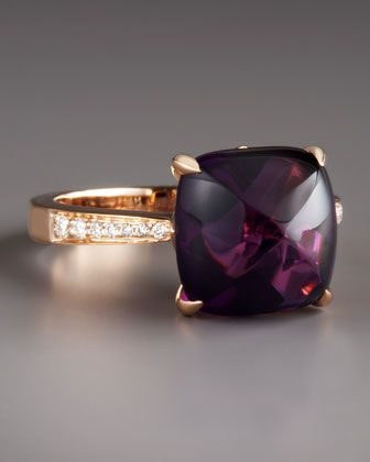 Frederic Sage Jelly Bean Amethyst & Diamond Ring