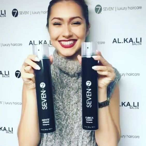 @alkalisalon with the beautiful newly designed SEVEN haircare!  Looking good!  #YourNewSEVEN #SEVENcollections #SEVENhaircare #alkaliwins