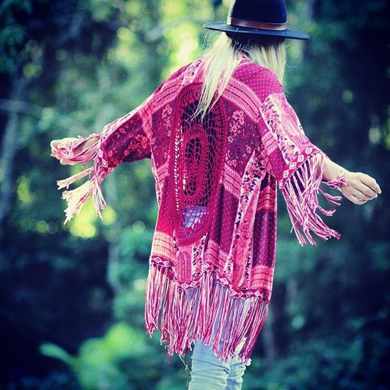 •>> FREEDOM IN FRINGE<<• soft flowing fabrics and tasseling in our High Tide Kimono  ~www.mahiya.com.au #mahiya #kimono #bohemian #gypsy #freespirit #boholuxe #ootd #photooftheday #wildheart