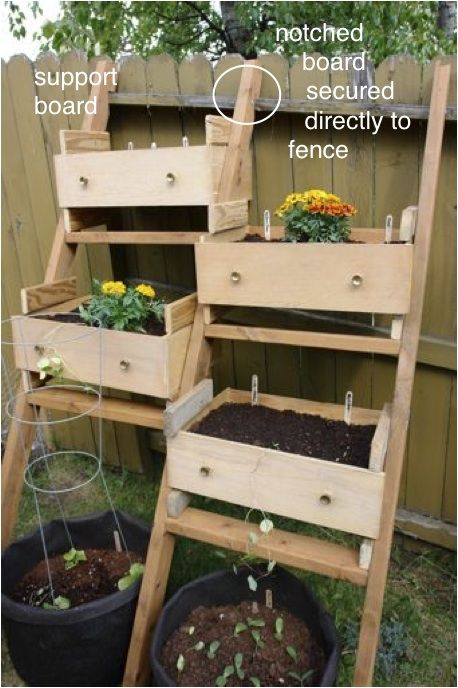 old dresser drawers as planter boxes