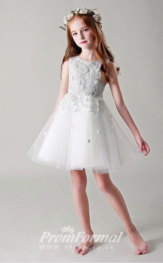 Cute Kids Short Communion Dress BCH020 , 4prom.co.uk in 2019