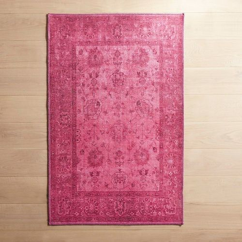 Now Here S Something Out Of The Ordinary Bright And Elegant Classy And Fun Just A Few Ways To Describe Our Fuchsia Printed A Rugs Teal Rug Elegant Home Decor