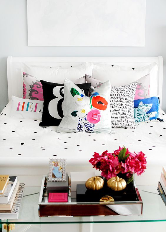 The new kate spade new york home bedding polka dot duvet for Polka dot decorations for bedrooms